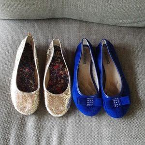 Bundle of 2 girls sz 3 dress shoes, slipons